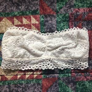 AERIE strapless lace bralette